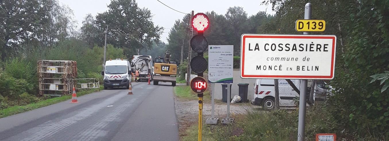 MONCE-EN-BELIN, RD139, La Cossassière : Les travaux démarrent